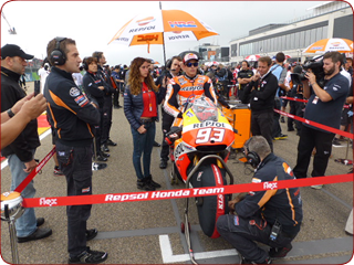 Marq Marquez on Pole Position, as seen by our MotoGP Platinum customers